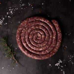 Raw venison kudu boerewors sausage