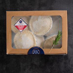 frozen venison pies in a package